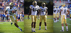 Georgia Tech Football - Players Vad Lee, Jeremiah Attahochu, Quayshawn Nealy, Louis Young. thumbnail