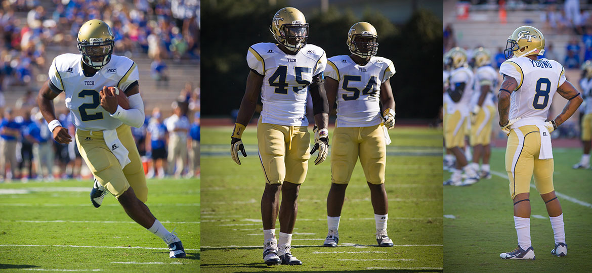 Georgia Tech Football - Players Vad Lee, Jeremiah Attahochu, Quayshawn Nealy, Louis Young.